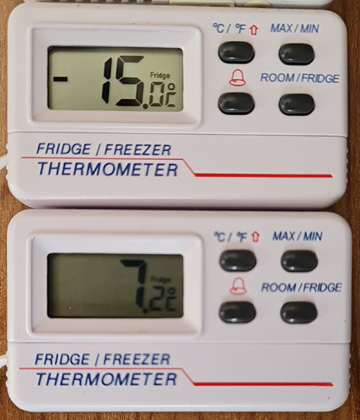Fridge-Freezer temperatures with good LPG
